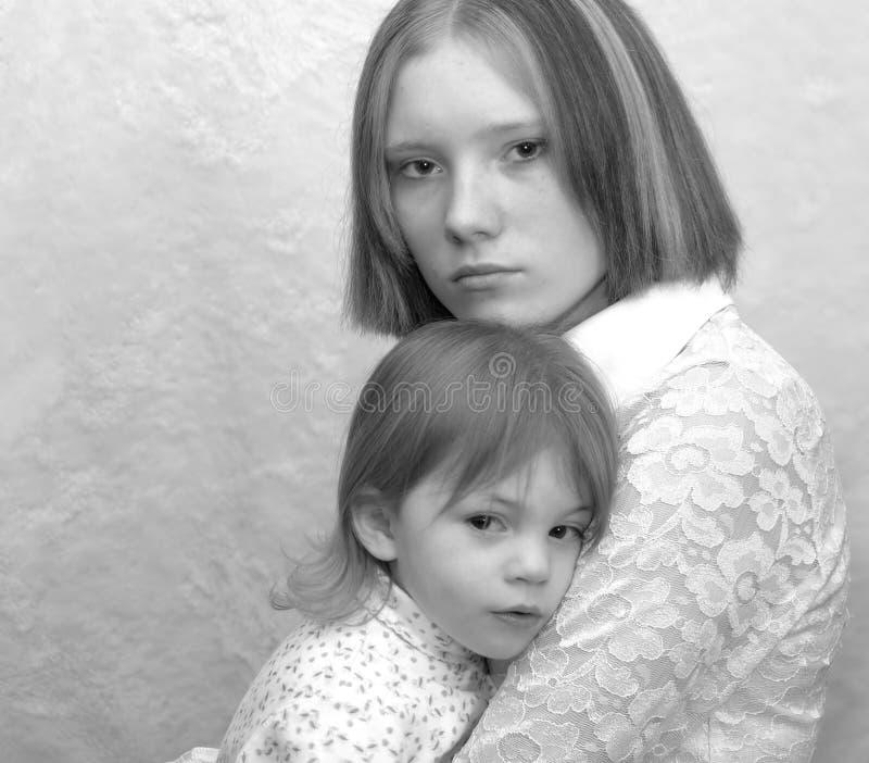 Tiener Moeder/Zusters stock afbeeldingen