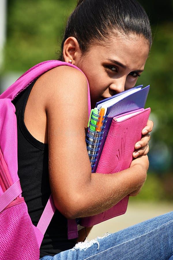 Tiener Vrouwelijke Student And Fear stock foto's