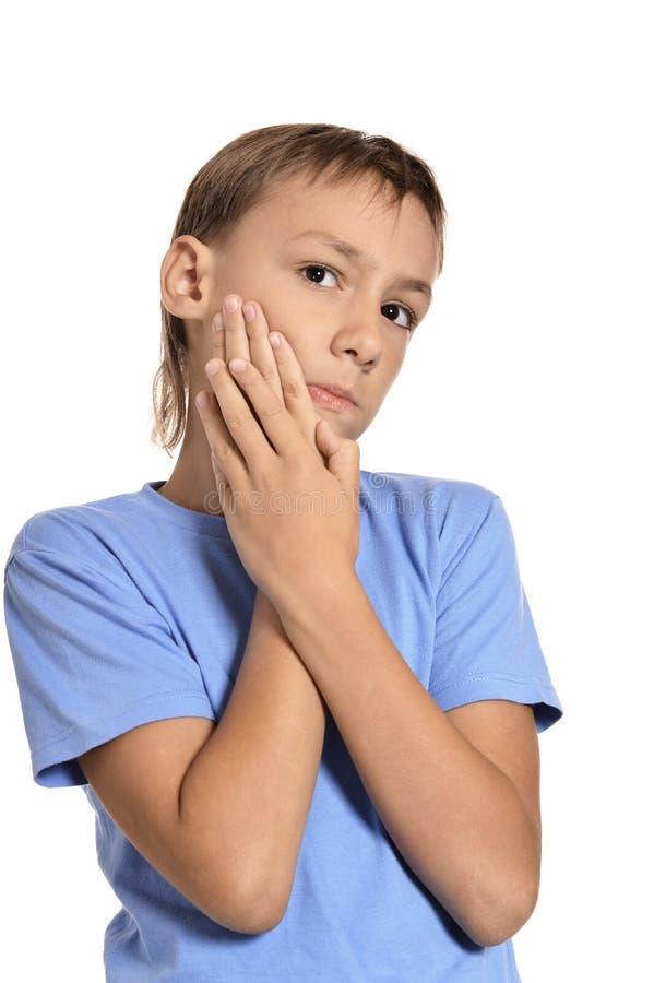 Tiener zieke jongen stock foto's