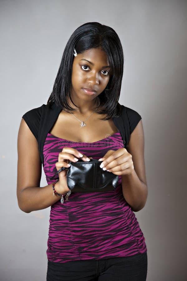 Tiener zonder geld royalty-vrije stock foto
