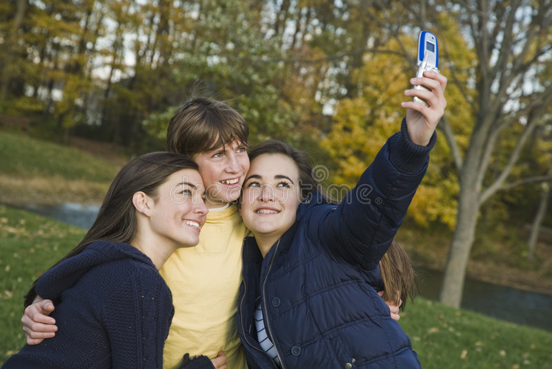 Tienerjaren royalty-vrije stock afbeelding