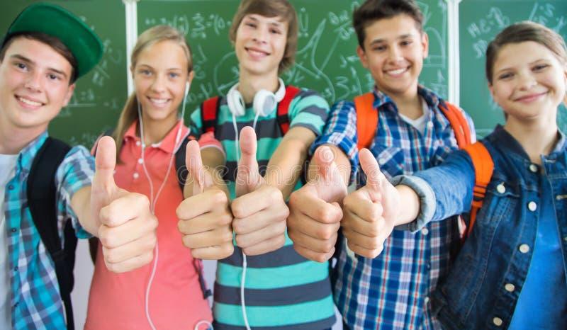 Tienerjaren in School stock foto's