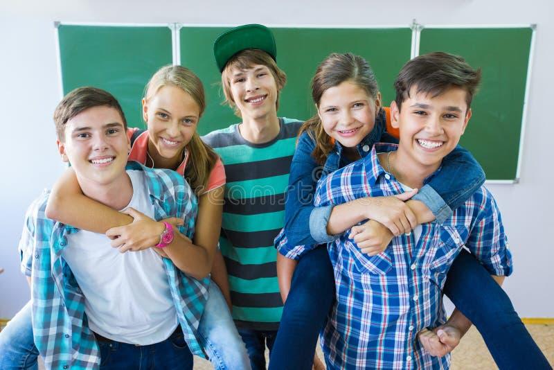 Tienerjaren in School royalty-vrije stock afbeelding