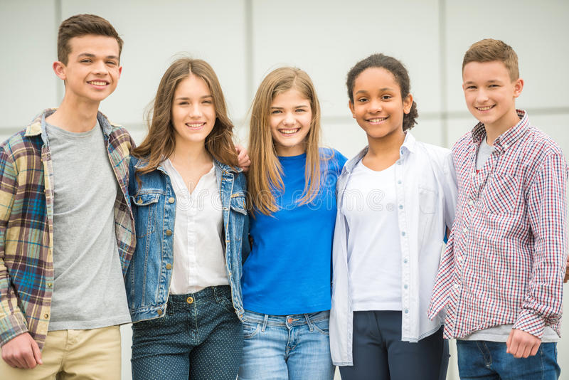 tieners royalty-vrije stock foto's