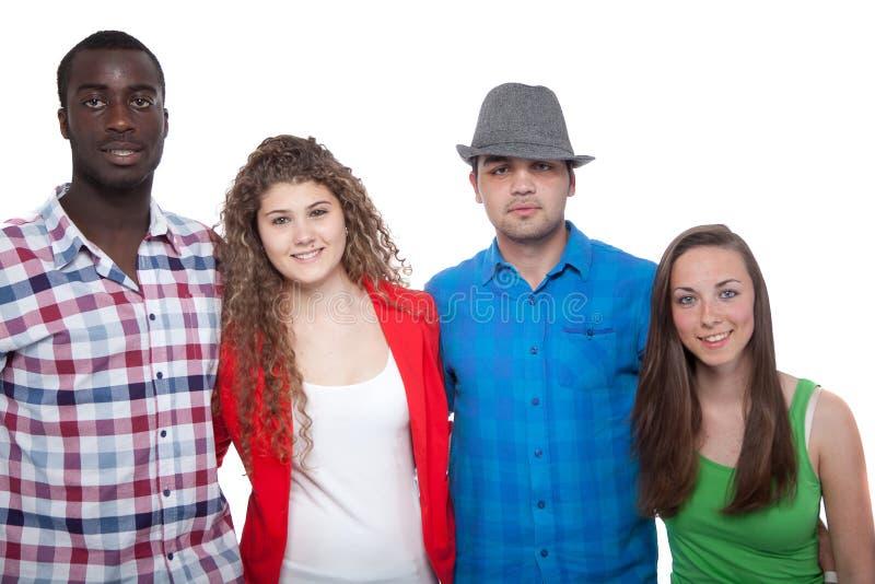 Tieners die en pret glimlachen hebben royalty-vrije stock foto's
