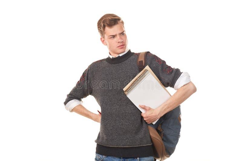 Tieneruniversiteitsjongen stock foto's