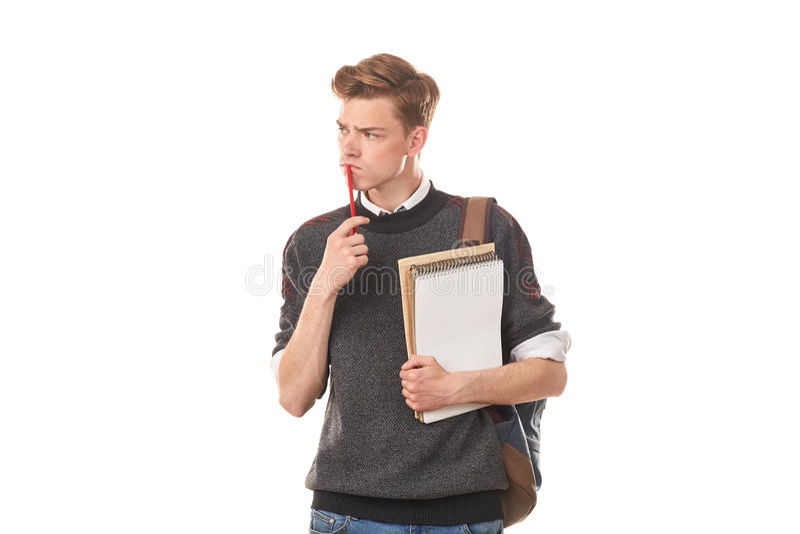 Tieneruniversiteitsjongen stock foto