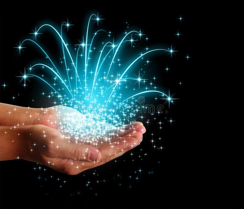 Tient le premier rôle la magie dans des vos mains images stock