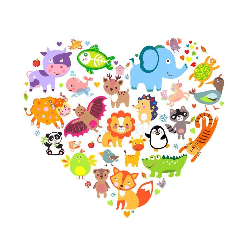 Tier-Herz lizenzfreie abbildung