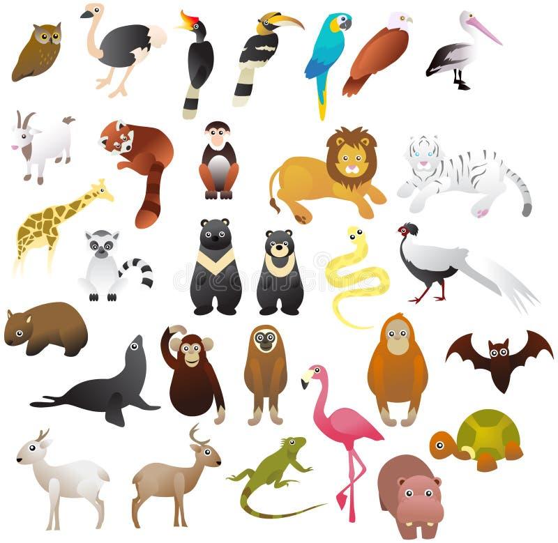 Tier im Zoo vektor abbildung