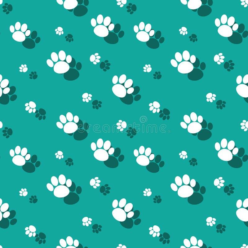 Tier-Paw Print Wildnature Seamless Pattern stock abbildung