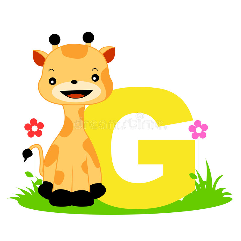 Tieralphabetzeichen - G lizenzfreie abbildung
