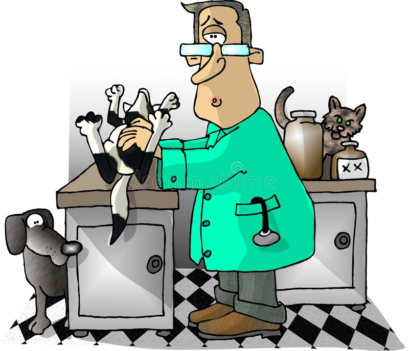 Tierarzt stock abbildung