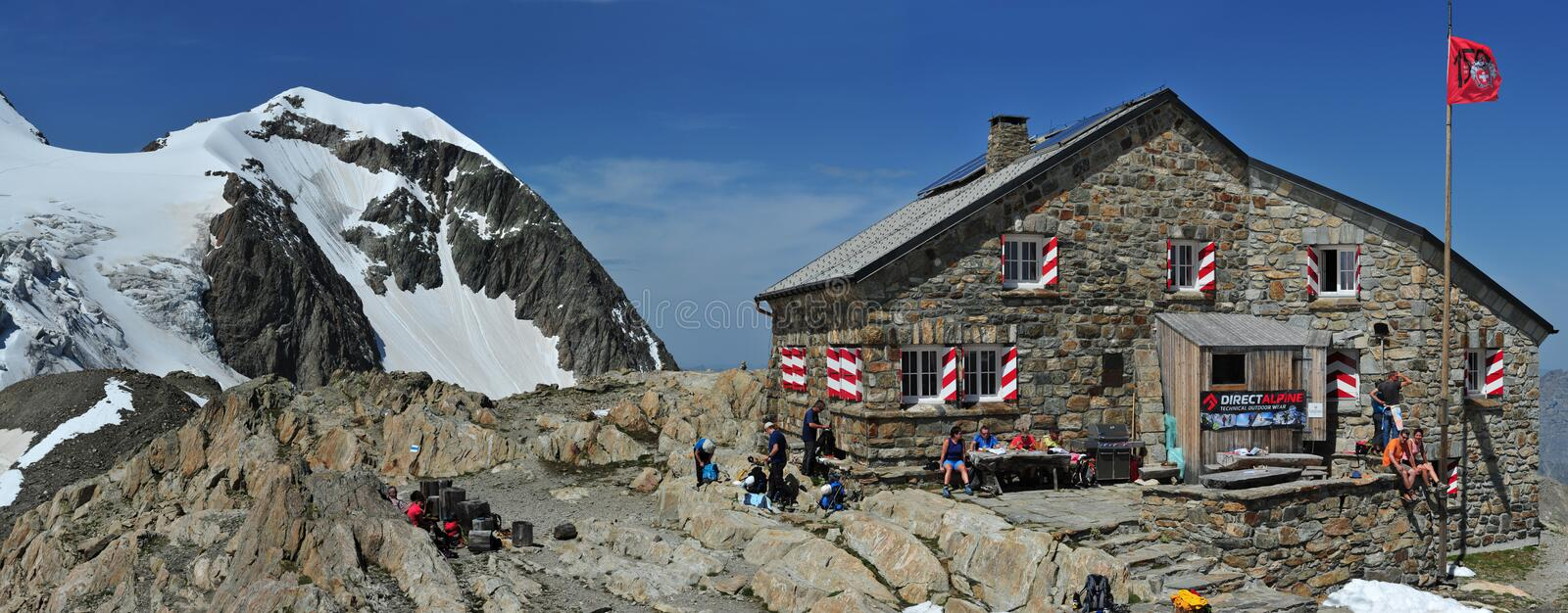 Tierbergli hut royalty free stock photos