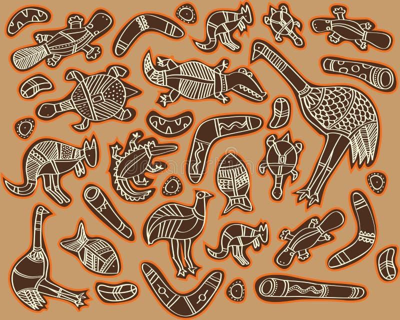 Tiere Australien vektor abbildung