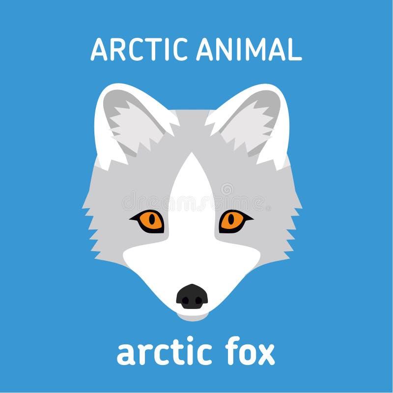 Tiere der Arktis Der arktische Hauptfox stock abbildung