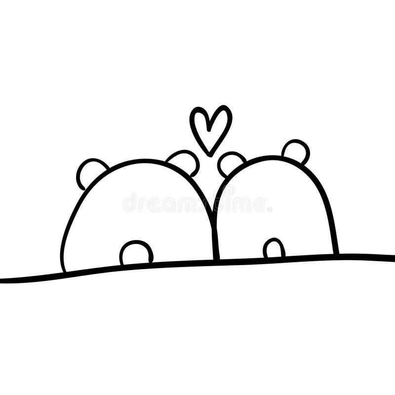 Tiere in der Liebe stockfotos
