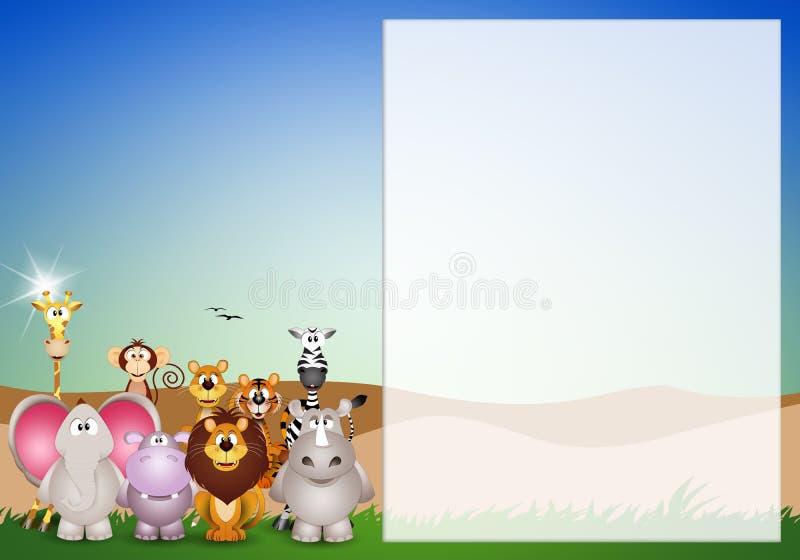 Tiere der Savanne vektor abbildung