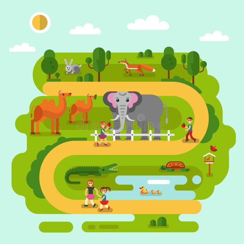 Tiere im Zoo vektor abbildung