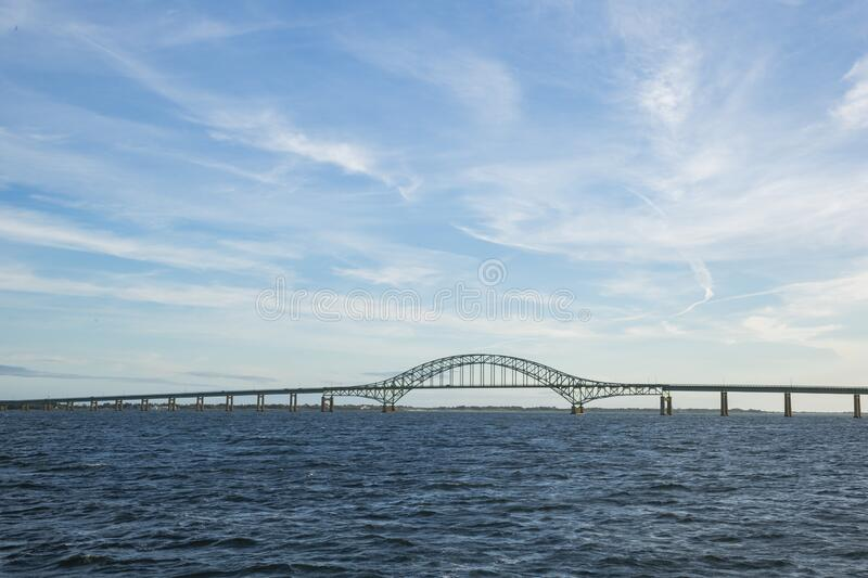 Tiered Arch Span Bridge under Windy Sky royalty free stock image