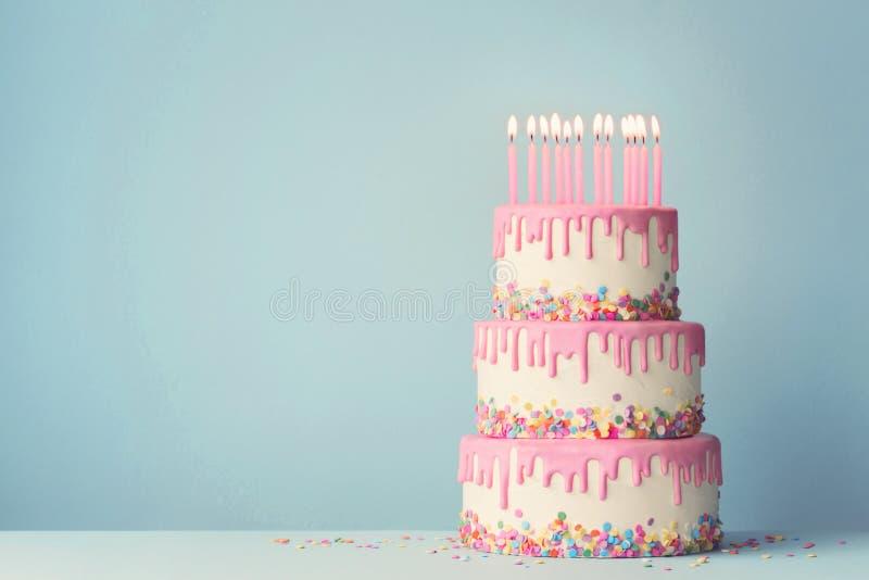 Tiered birthday cake royalty free stock image