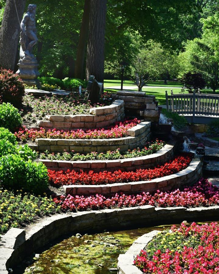 Tiered Flower Garden stock image