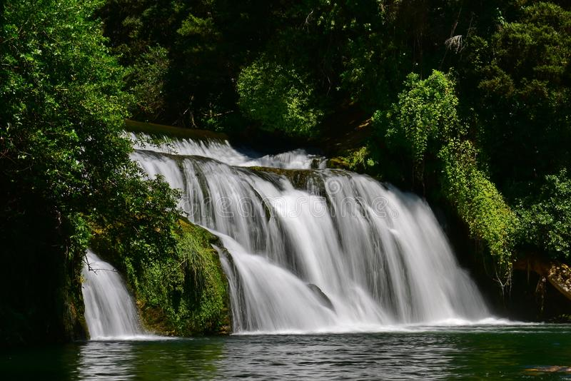 Tiered Maraetotara Falls in Hastings, New Zealand. Tiered Maraetotara Falls in Hastings, Hawkes Bay, New Zealand royalty free stock photography