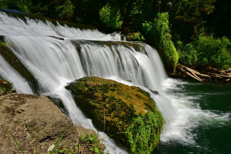 Tiered Maraetotara Falls in Hastings, New Zealand. Tiered Maraetotara Falls in Hastings, Hawkes Bay, New Zealand stock image