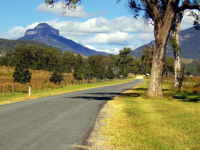The tiered Mount Lindesay is an exstinct volcano. Distant views of the tiered Mount Lindesay is an extinct volcano located in South East Queensland Australia stock image