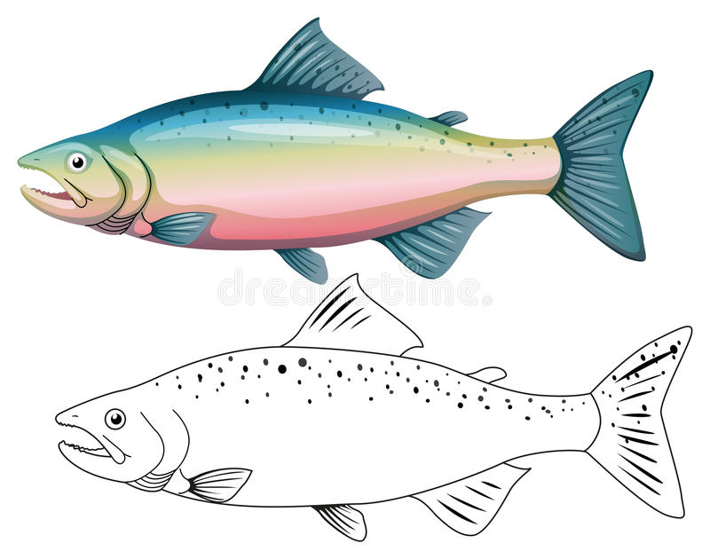 Tierentwurf für Fische stock abbildung