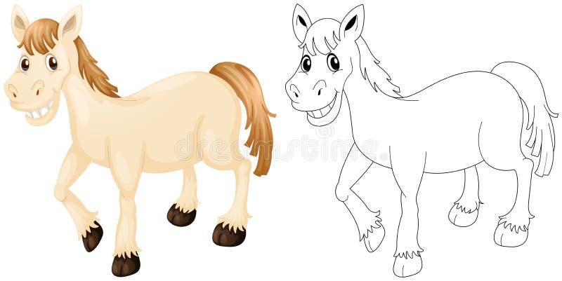 Tierentwurf für glückliches Pferd vektor abbildung