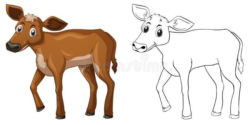 Tierentwurf für kleine Kuh lizenzfreie abbildung
