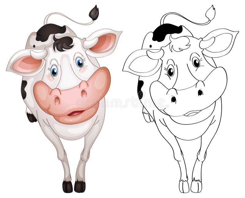Tierentwurf für Kuh lizenzfreie abbildung