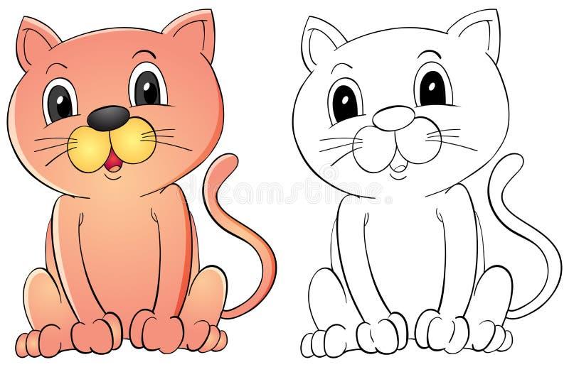 Tierentwurf für nette Katze vektor abbildung