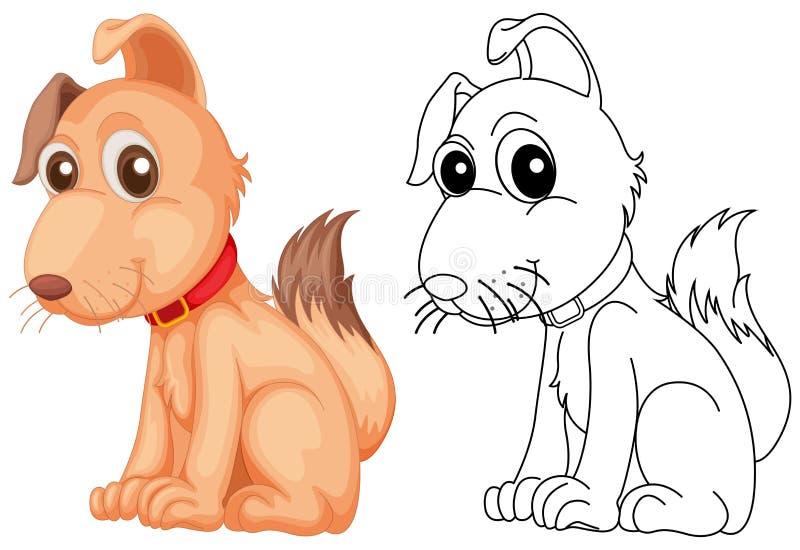 Tierentwurf für netten Hund vektor abbildung