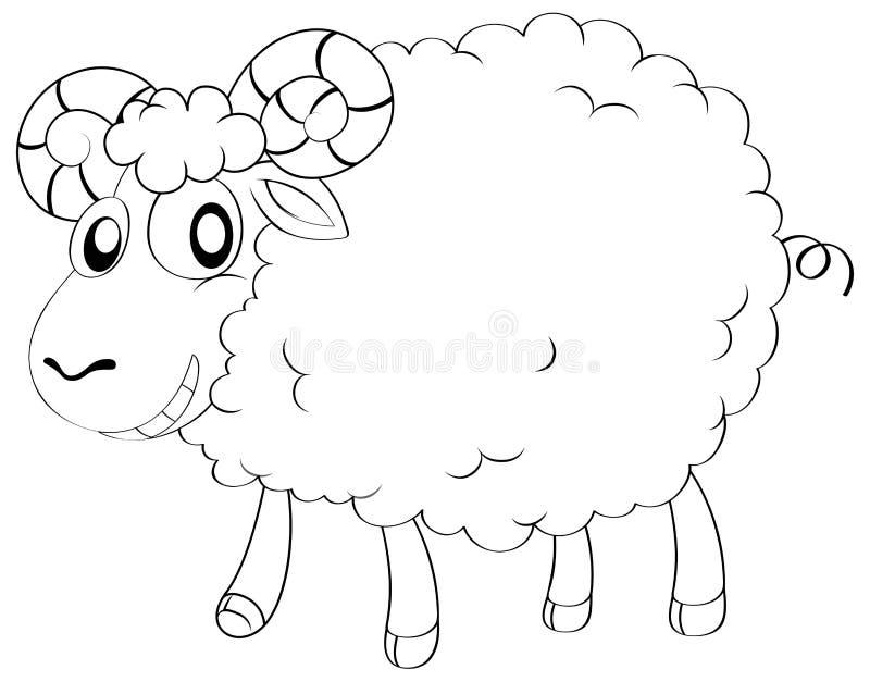 Tierentwurf für Schafe lizenzfreie abbildung