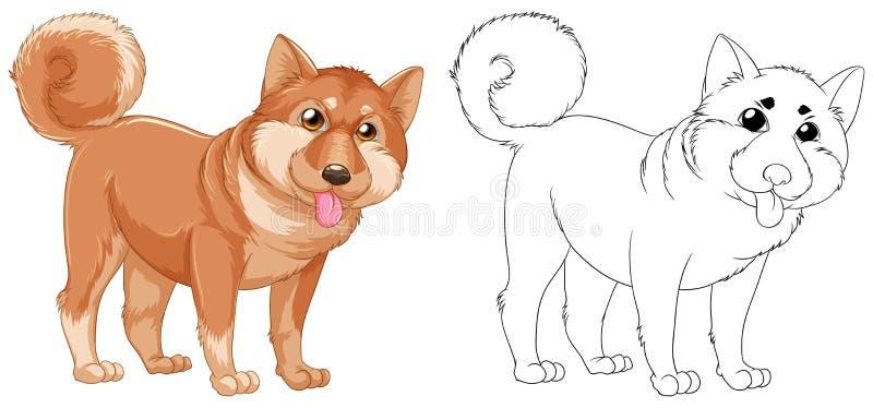 Tierentwurf für shiba Hund stock abbildung