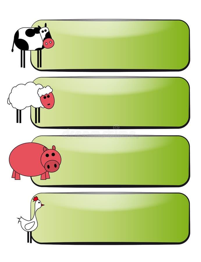 Tierfahne lizenzfreie abbildung
