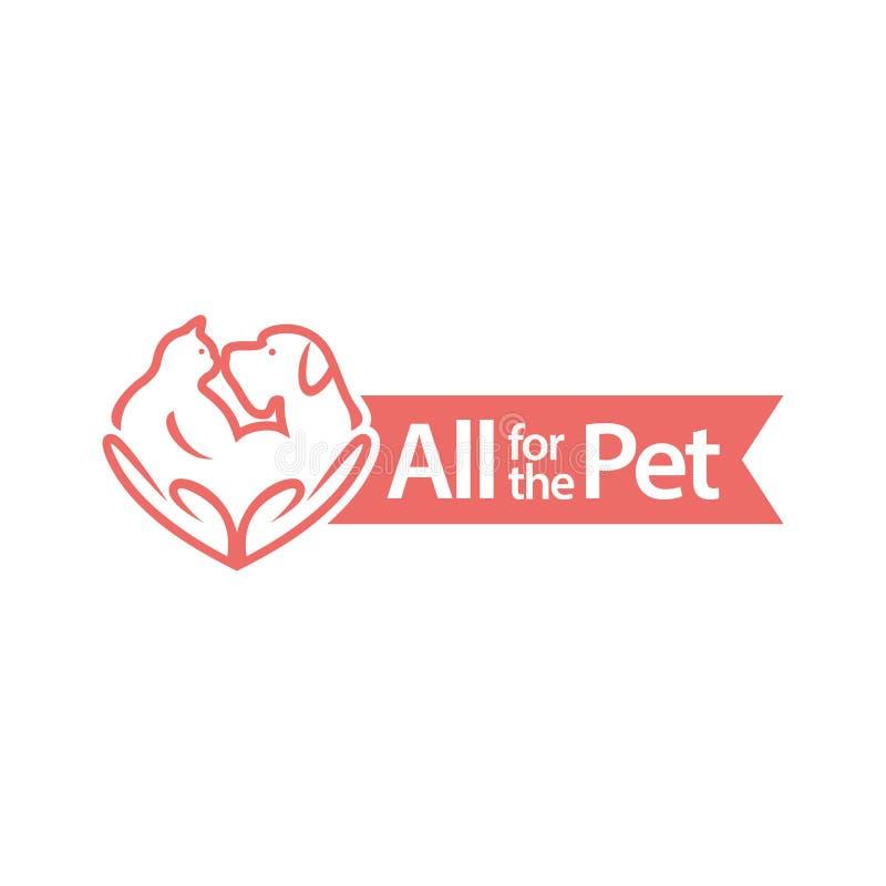 Tierfreund-Annahme lizenzfreie abbildung