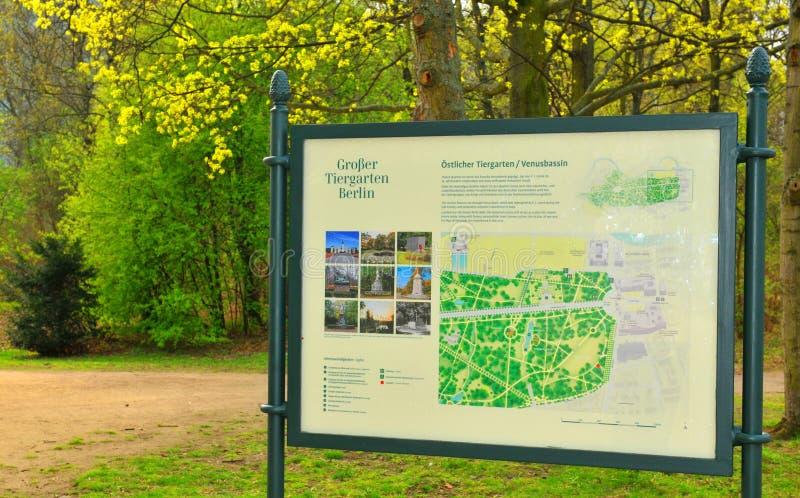 Tiergarten Berlin, Niemcy (,) obrazy royalty free