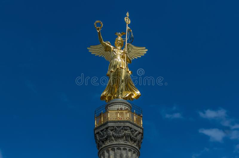The Tiergarten park, Berlin. Germany. Berlin, Germany - the Tiergarten is probably the most famous park in Berlin, and its Berlin Victory Column made popular by stock photo