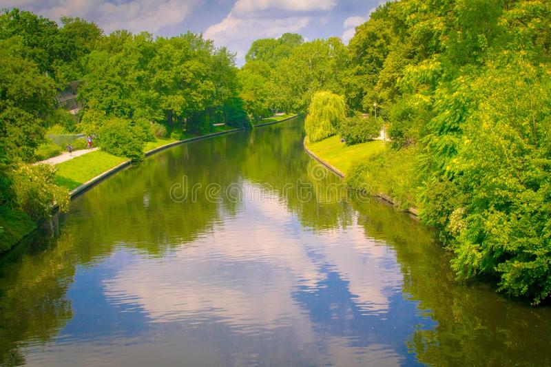Tiergarten rzeka zdjęcie royalty free