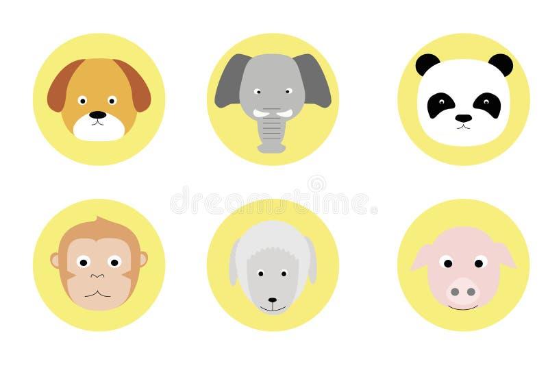 Tiergesicht stockfoto