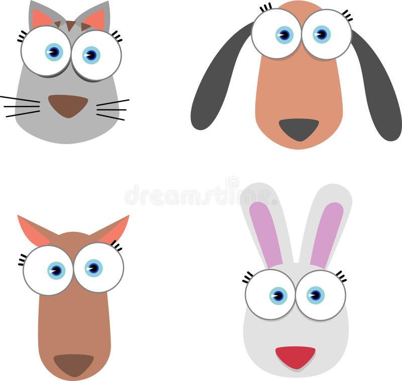 Tiergesicht mit großem Auge vektor abbildung