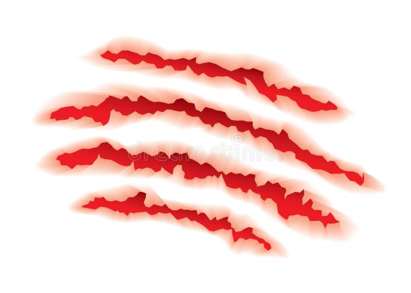 Tiergreifer zerrissen stock abbildung