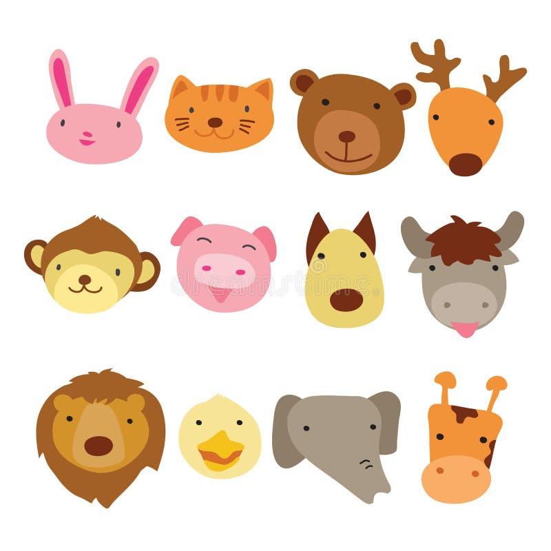 Tierhauptcharakterdesign stock abbildung