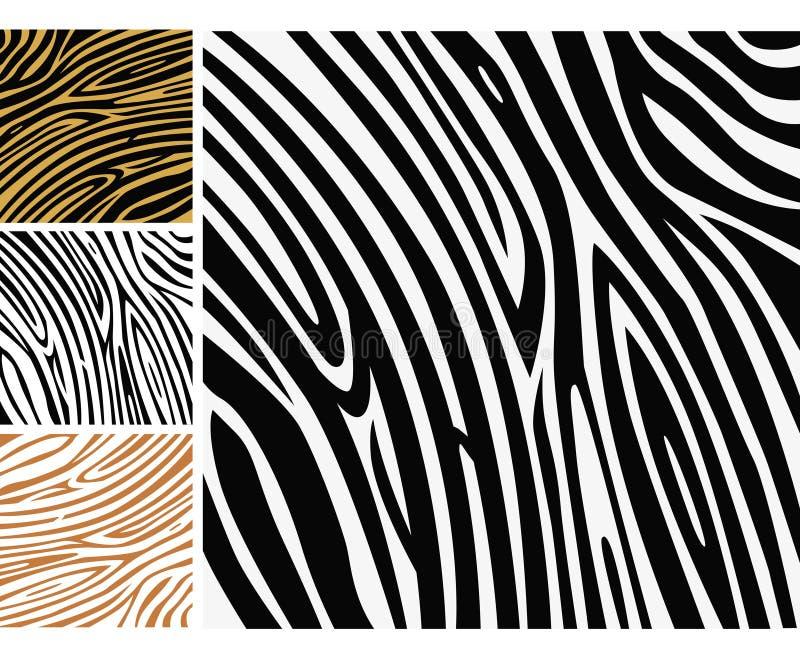 Tierhintergrundmuster - Zebrahautdruck vektor abbildung