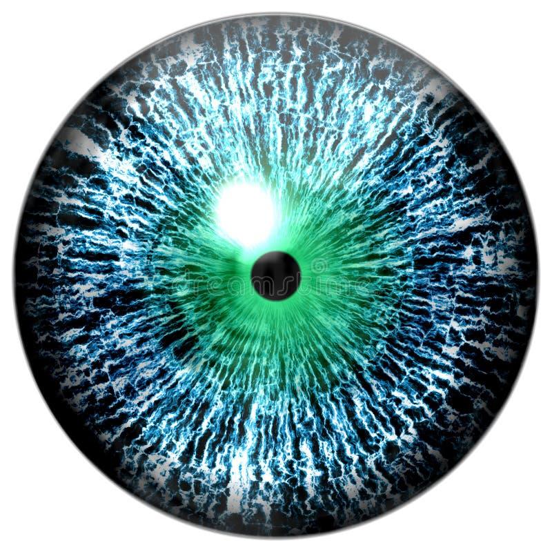 Tierischer blauer Augapfel 3d Colorized lizenzfreie stockfotos
