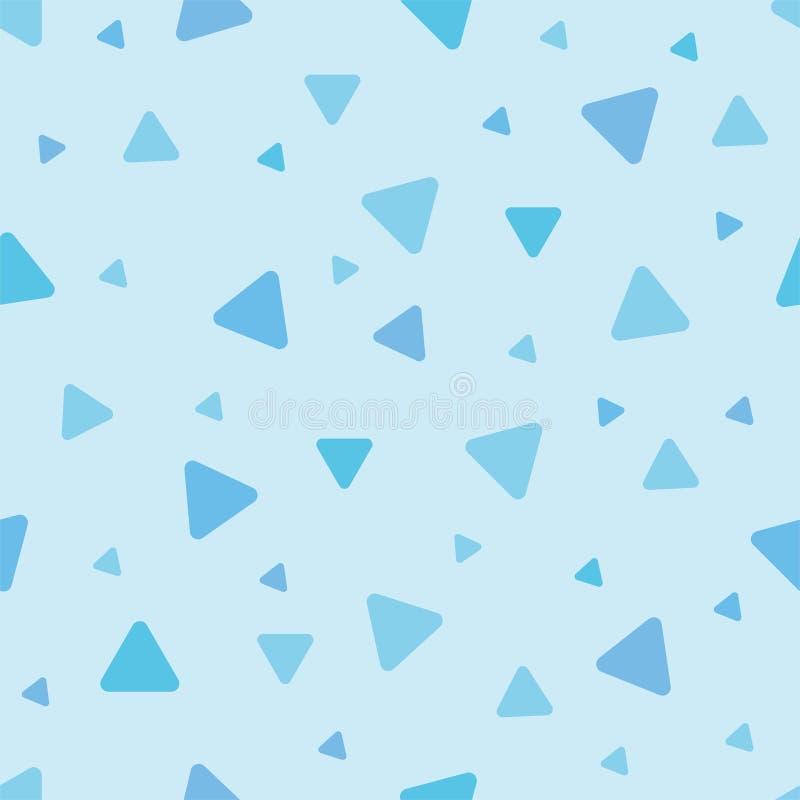 Tierisches blaues Dreieck des netten nahtlosen Musters Kopieren Sie passendes f?r Poster, Postkarten, Gewebe oder Packpapier vektor abbildung