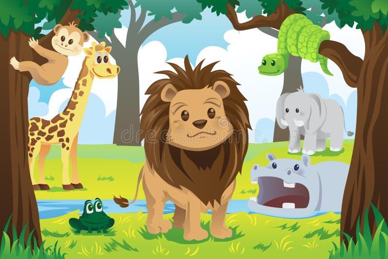 Tierkönigreich lizenzfreie abbildung